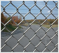 stainless steel wire durable household chain link fence